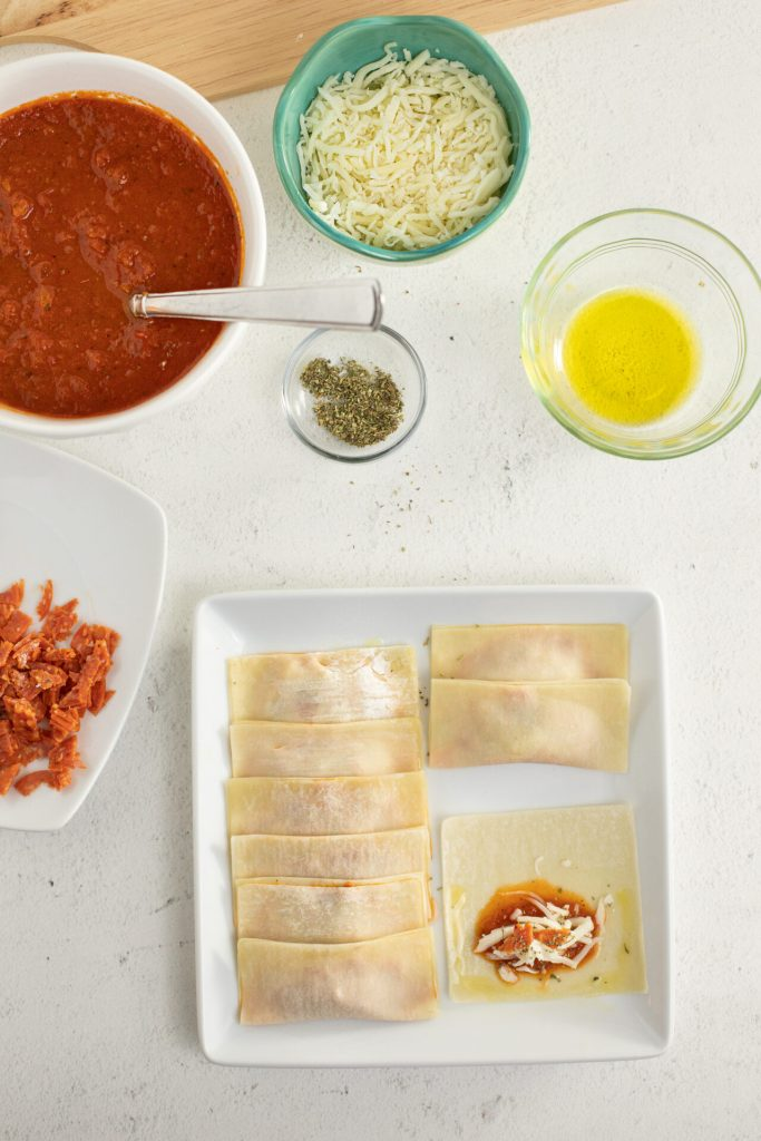 ingredients for pizza rolls