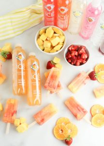 Mango Popsicles made with Sparkling Ice Water