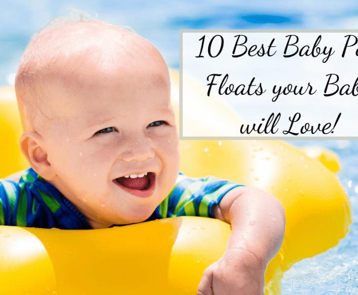 baby in pool in the best baby pool float