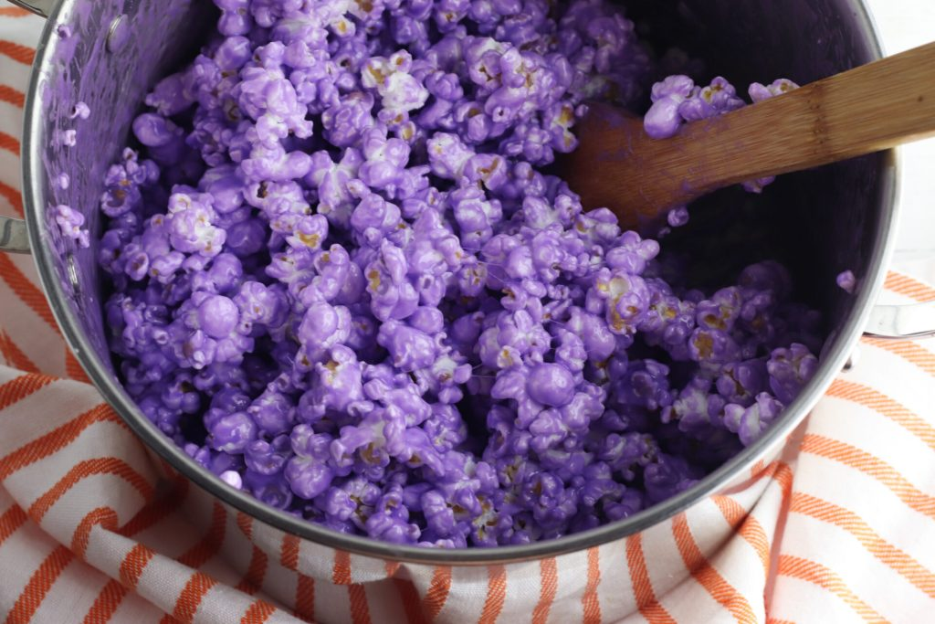 popcorn died purple
