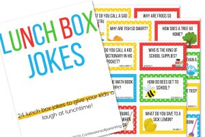 printed photo of lunch box jokes