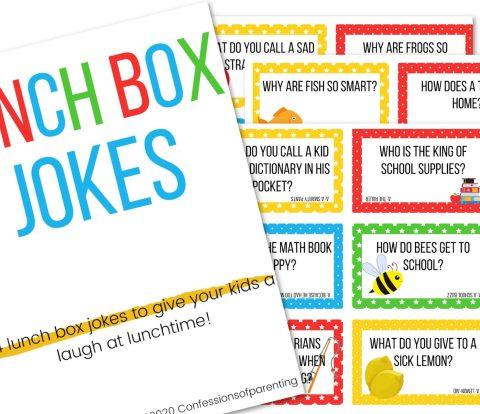 printed photo of lunch box jokes