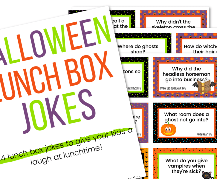 picture of Halloween lunch box jokes printable