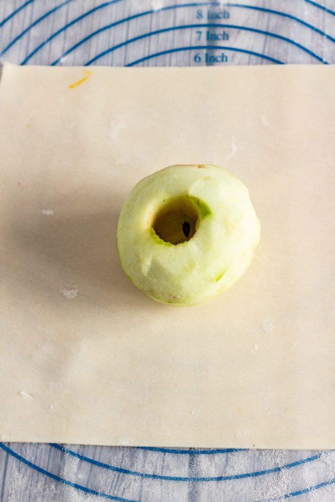 process image of apple dumplings