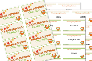 thanksgiving charades printable feature