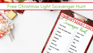 picture of free Christmas Light Scavenger Hunt Printable