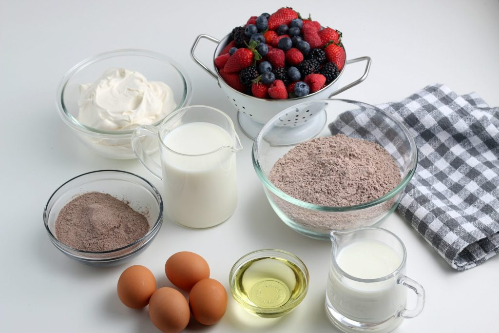 ingredients for chocolate trifle