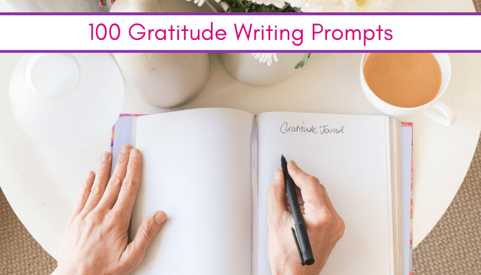 picture of women writing in gratitude journal using gratitude writing prompts