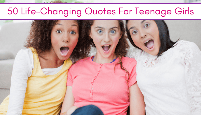 feature image: life changing quotes for teenage girls