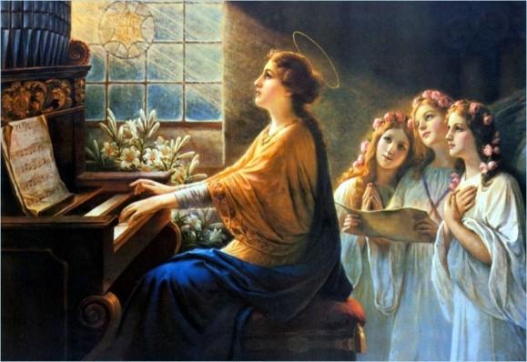 Sainte Cécile patronne des musiciens