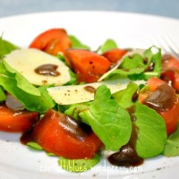 Rucola Parmesan Salad with Balsamic-Cumin Vinaigrette