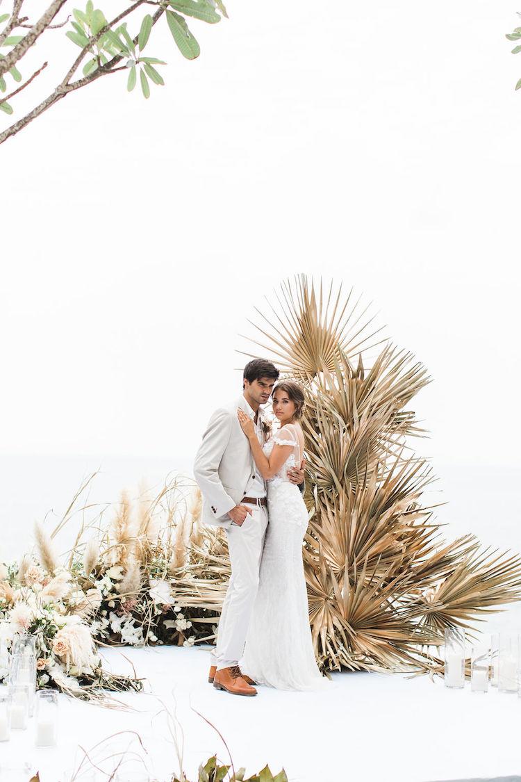 Tropical Elegance Dried Flowers Pampas Grass Wedding