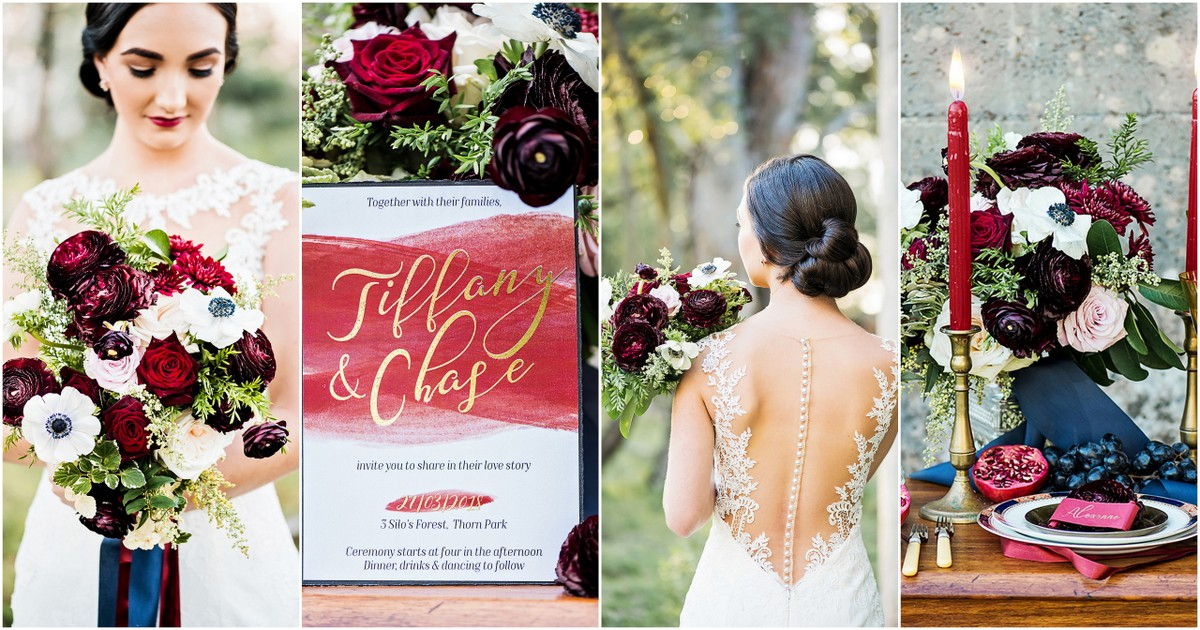 Must-See, Romantic Burgundy Red And Navy Blue Wedding Ideas