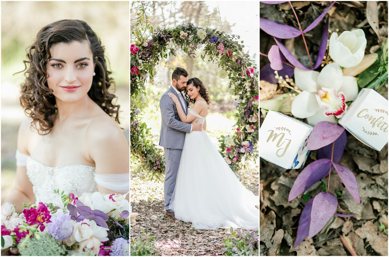 Outdoor Vows + A Giant Floral Wedding Ceremony Wreath