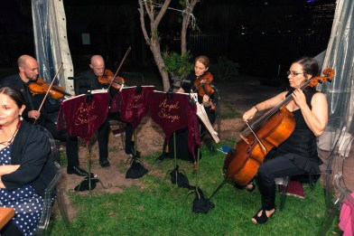 The party featured a string quartest