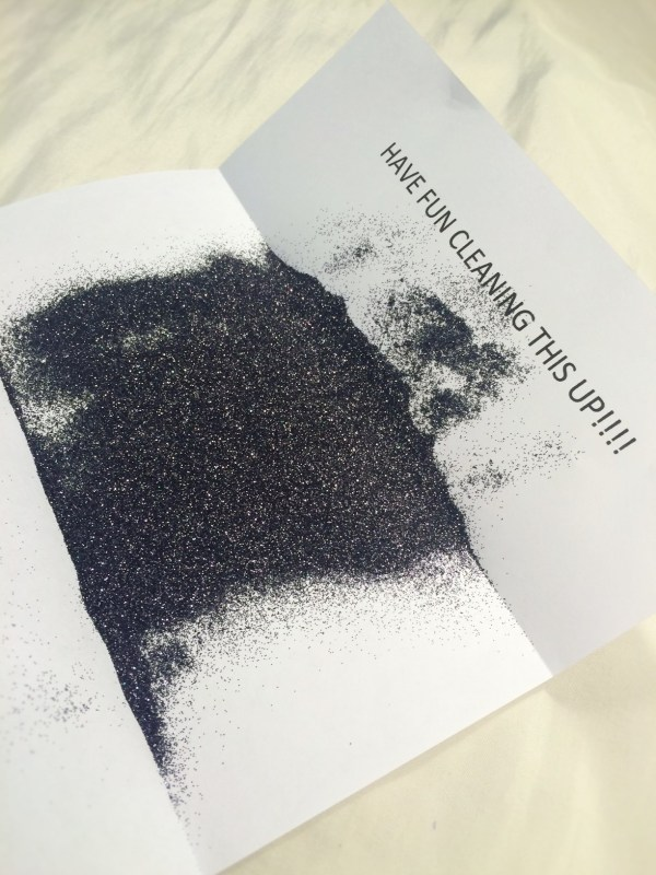 Glitter Envelopes Explosion - Year of Clean Water