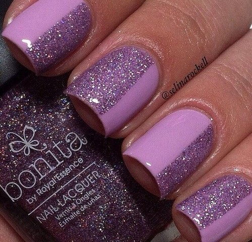 Fashionable manicure with sparkles and glitter: photos, the best ideas 10