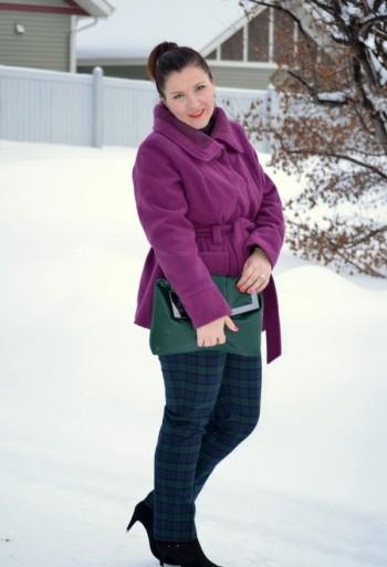 short winter coat for a full girl