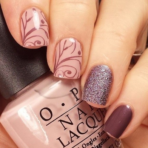 Fashionable manicure with sparkles and glitter: photos, the best ideas 9