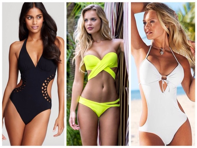 Slip swimsuits for the figure Rectangle
