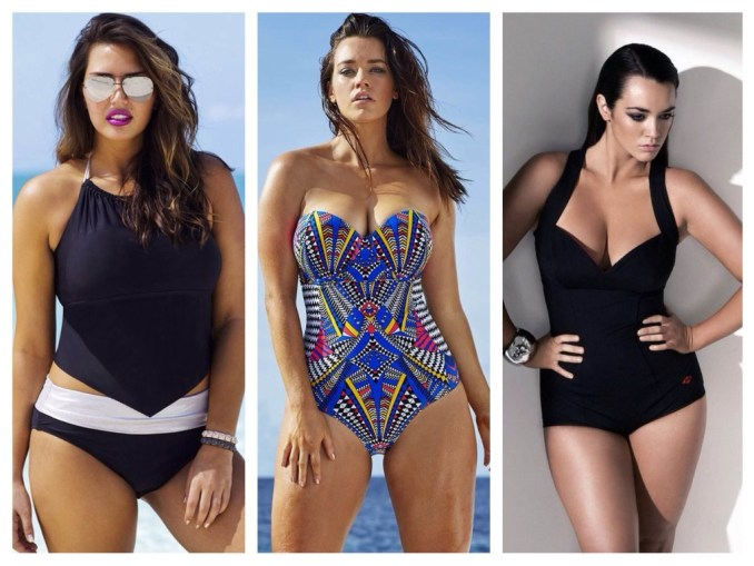 Swimwear for visually reducing volumes