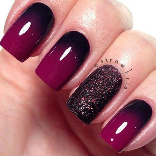 Fashionable manicure with sparkles and glitter: photos, the best ideas 19