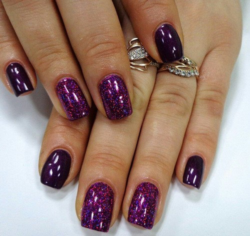 Fashionable manicure with sparkles and glitter: photos, the best ideas 11