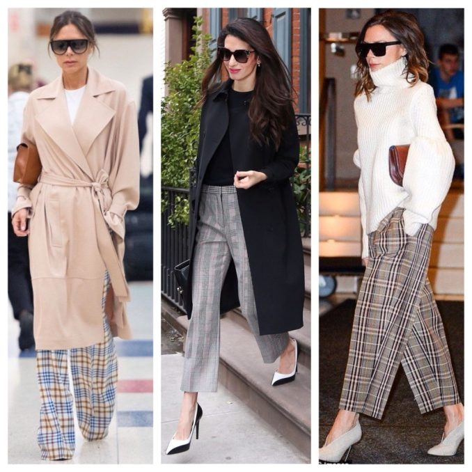 plaid pants in style icons