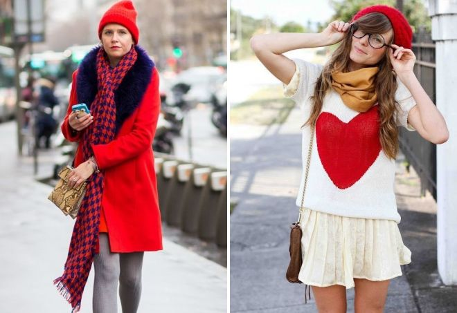 How to wear a red hat