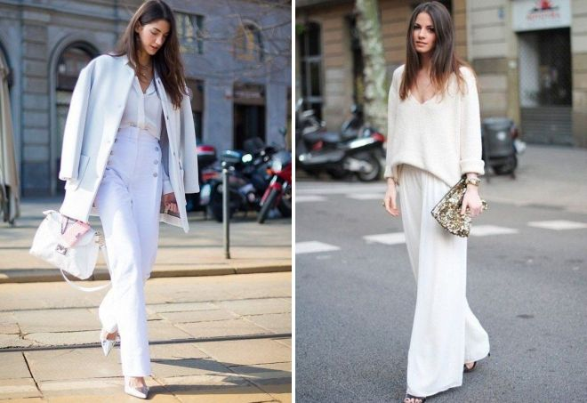 White monochrome in clothes