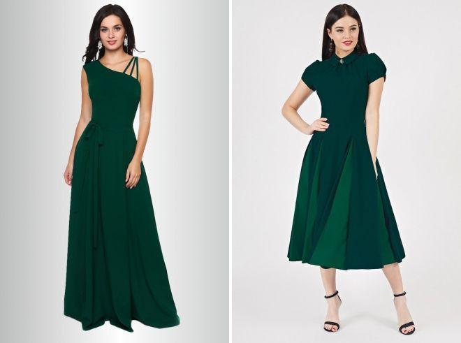 dark green long dress