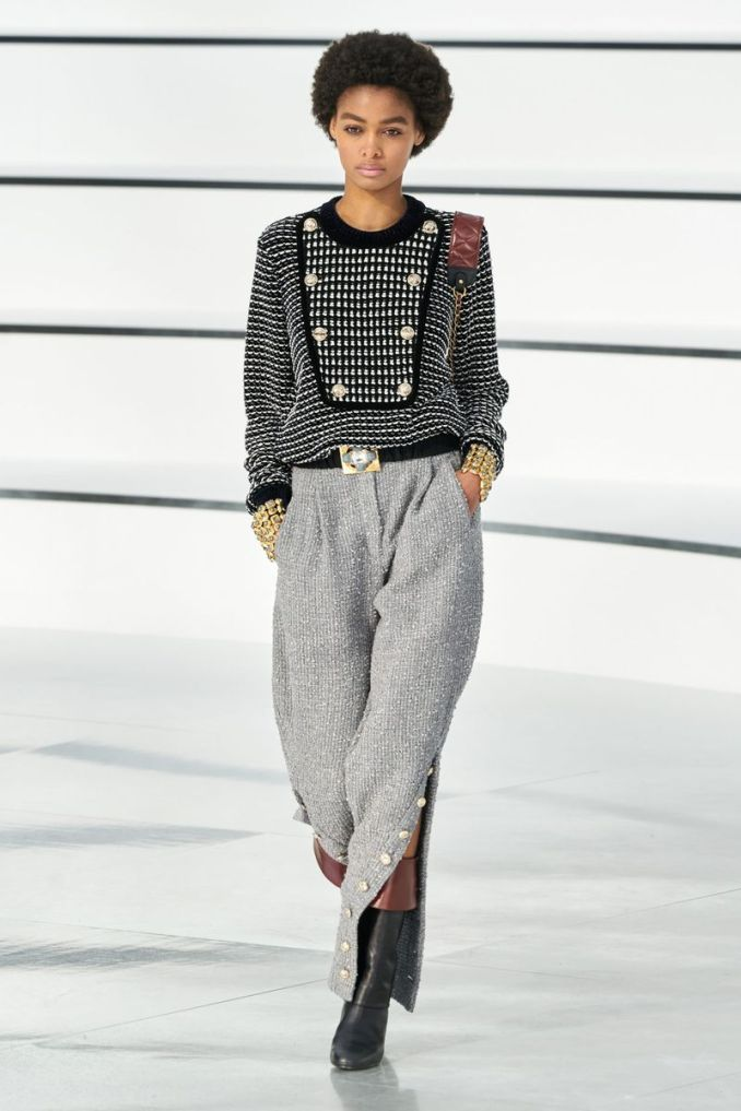 Fashionable pants from the fall-winter collection 2020-2021 Chanel