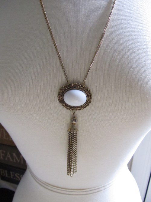 White Stone with Gold Tassel (4)