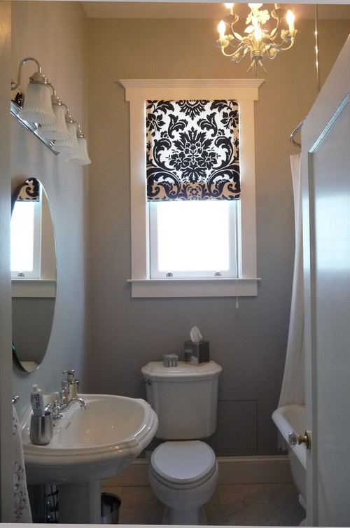 (image This Space With Wood Plantation Shuttersu2013too Heavy And Bulky For  These Large Windows. They Would Dominate The Look Of This Bathroom)