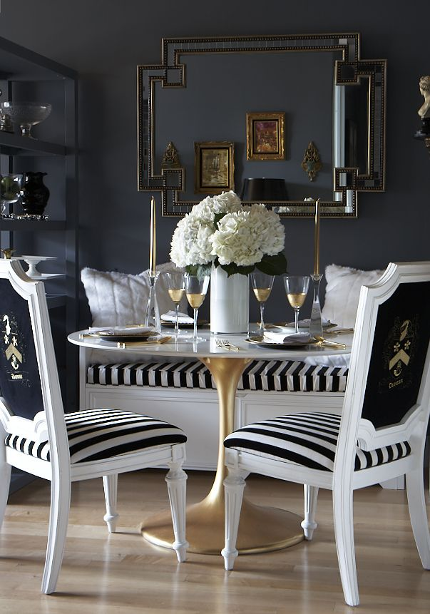 The Docksta Table with a painted gold base  cdc342ce234bbe8bbb27cced455626b3Dining Tables Archives   ConfettiStyle. Dining Table Painted Gold. Home Design Ideas
