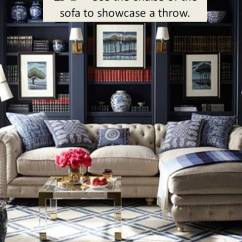 What Size Rug For Living Room Sectional Home Goods Design Guide How To Style A Sofa Confettistyle Via