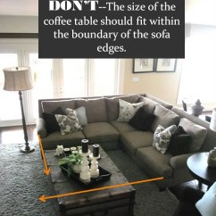 Rug Size For Living Room With Sectional Pictures Of Small Rooms Fireplaces Design Guide How To Style A Sofa Confettistyle Via