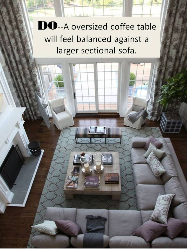 what size rug for living room sectional curtains gallery design guide how to style a sofa confettistyle choose coffee where the feels balanced and proportionate of