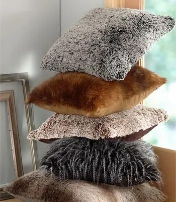 Faux Fur for Fall–Decorating for the Senses