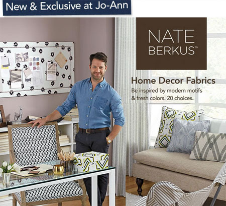 Like Most Of Nateu0027s Products, The Patterns In The Nate Berkus Fabric Line  Available At JoAnnu0027s Have A Fresh And Modern Feel And Come In Classic  Colors.