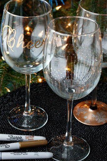 DIY Wine Goblets