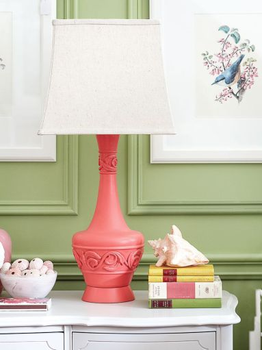 Spray Painted Lamp