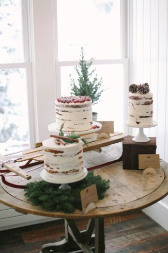 Winter Cake Buffet
