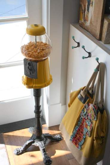 Gumball machine on stand