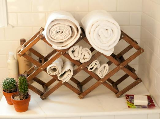 Vintage Rack with Towels