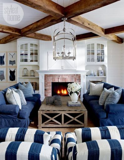 Denim Decor via Style At Home