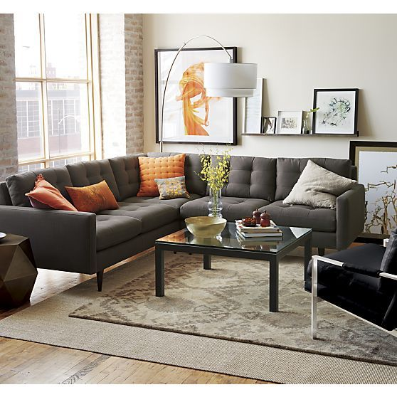 Sectional Sofa via Crate and Barrel1 - Compact Sectional Sofa Pros and Cons