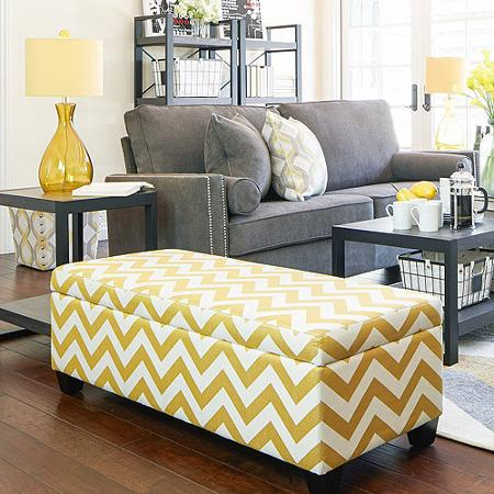 via. And another super chic storage ottoman ... - 5 Decorative Items To Buy At Walmart! ConfettiStyle