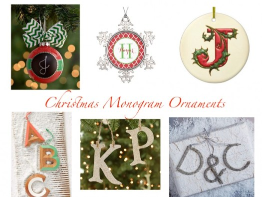 The Look For Less Monogram Christmas Ornament Confettistyle