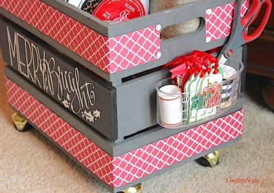 Merry & Bright Gift Wrap Crate